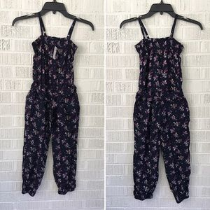 Gap Kids lightweight overall romper girls size 6-7